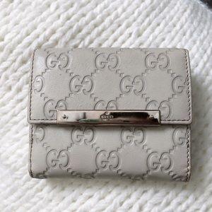 Gucci Guccissima Monogram Leather Compact Wallet